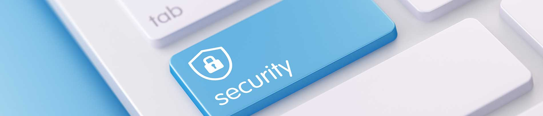 Cyber Security Button on Keyboard